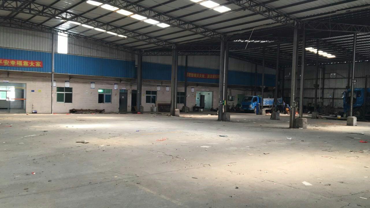 平湖鹅公岭新出工业园区大型钢结构厂房2000平,适合仓库,