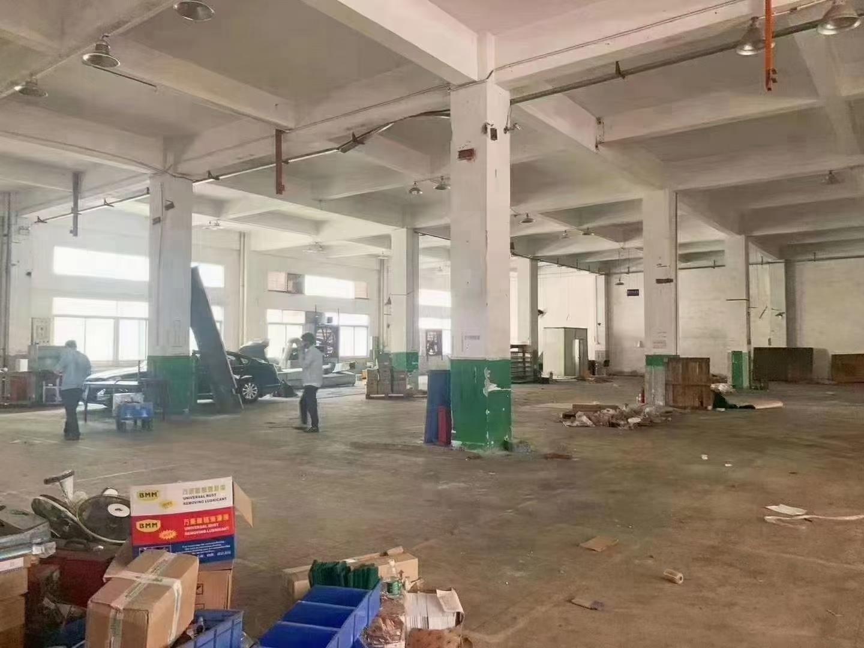 福永塘尾一楼1600平米物流仓库出租,超大空地,拖头车挂车进