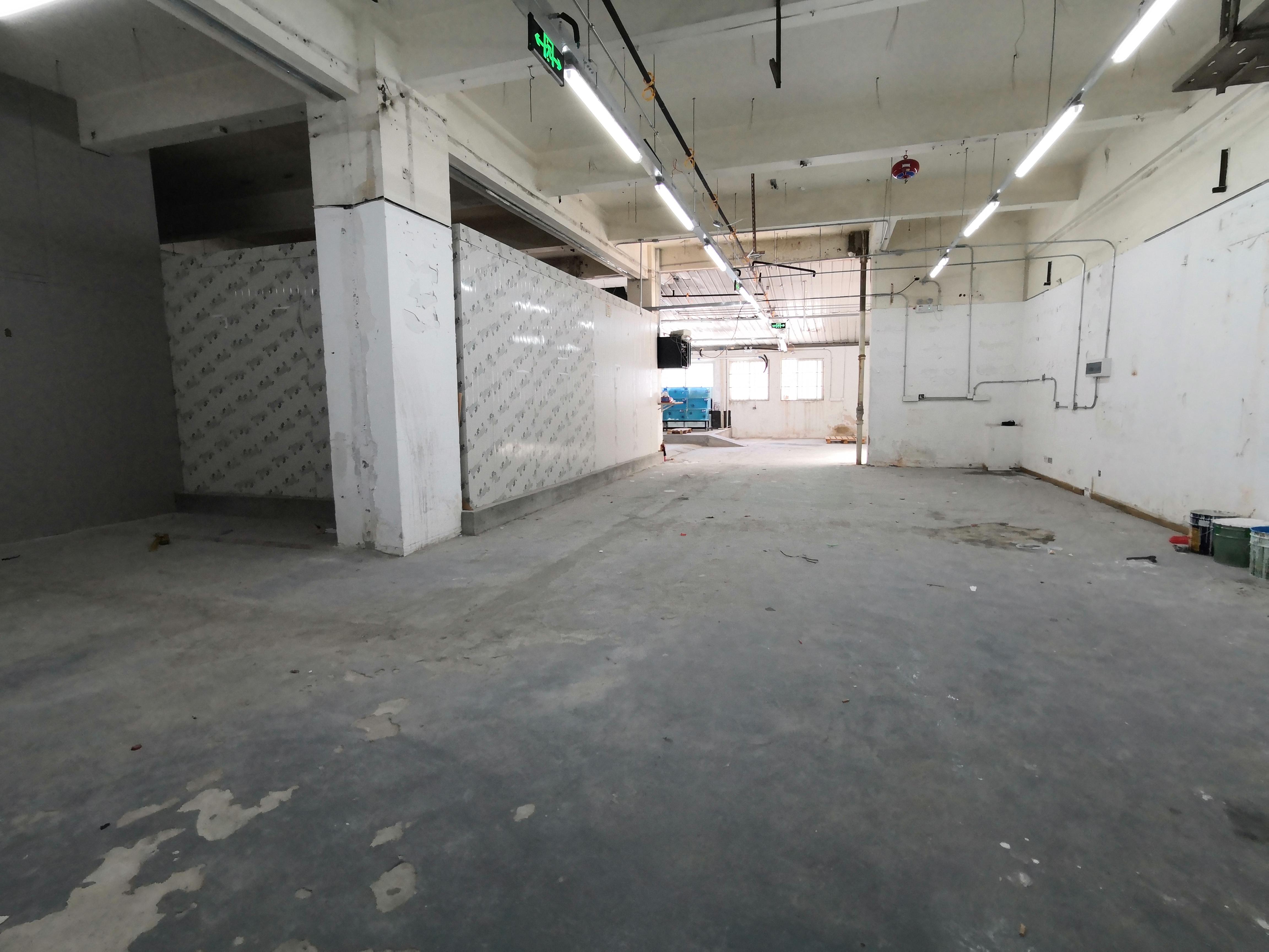 南山科技园一楼610平仓库现成冻库带卸货平台无转让费可做配送