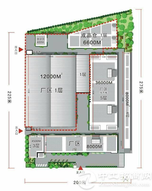 东莞厚街镇占地52000家具厂房出售