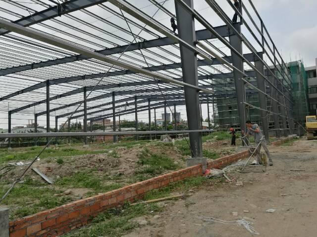 万江新建钢结构厂房独院,车间4500平米,宿舍1200平米