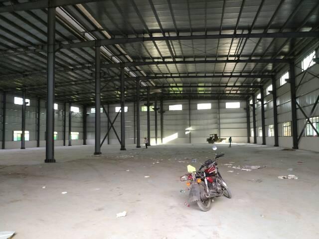 两栋全新独院滴水9米高钢结构厂房6300平方出租