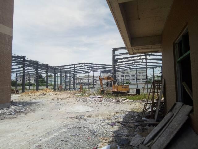 石排镇工业区钢构厂房单一层滴水9米
