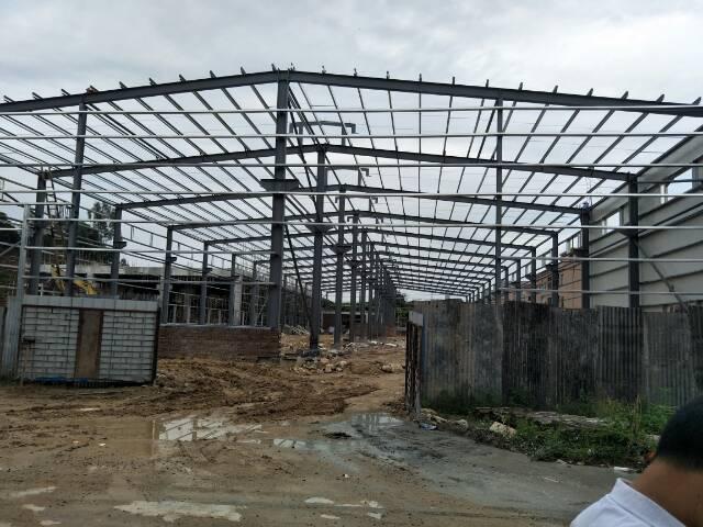 茶山钢构厂房带牛角4500平方