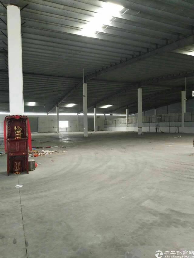 虎门广深高速路口新出单一层独院厂房1500,滴水六米