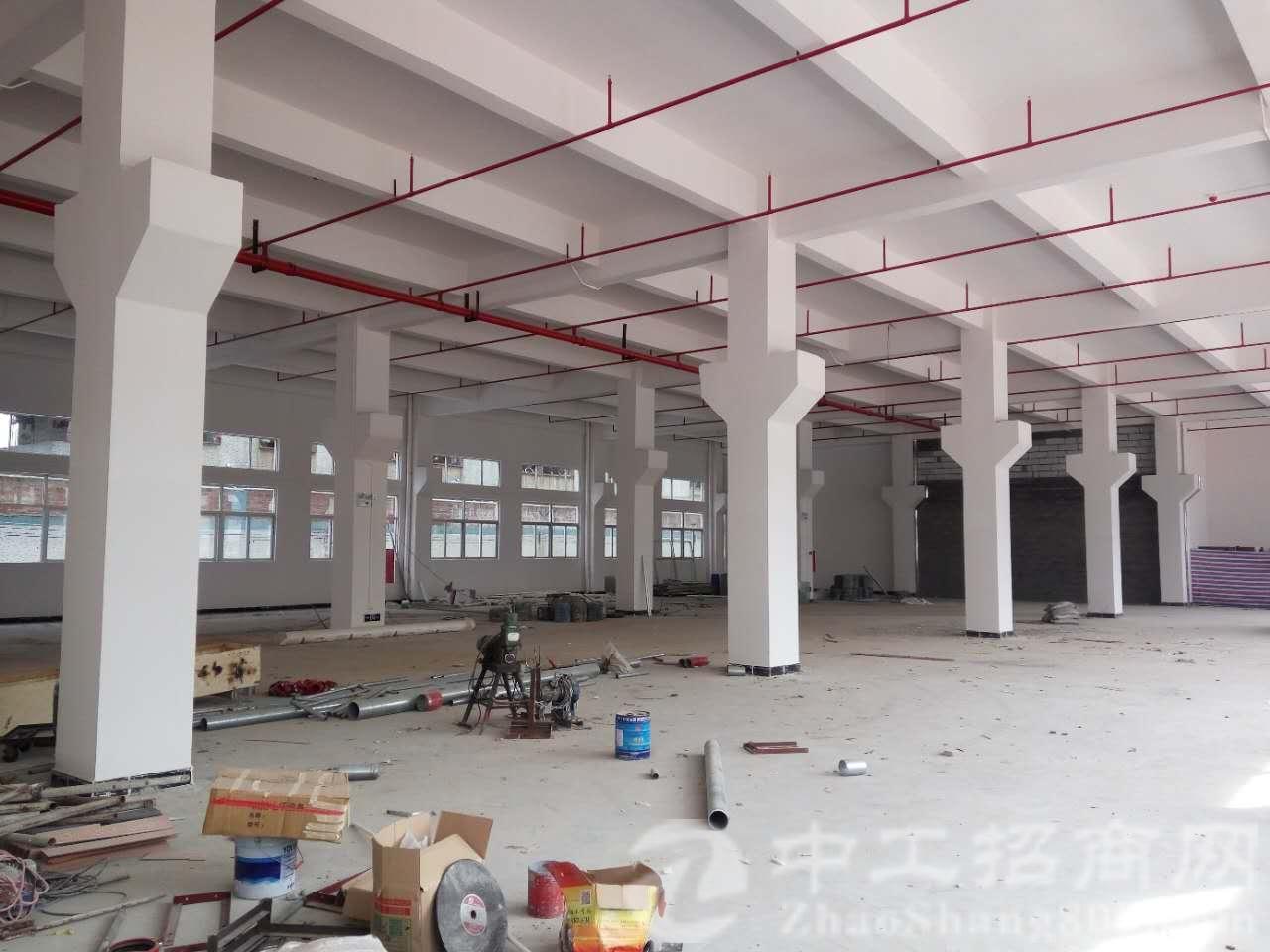 独院标准厂房一栋5400平的,带消防喷淋,一楼7米多高带行车
