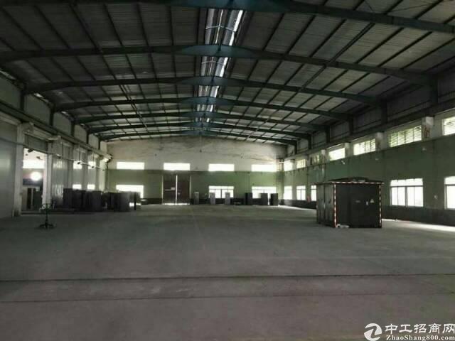 坪山新区大工业区独栋钢构厂房3000平方出租,高10米,