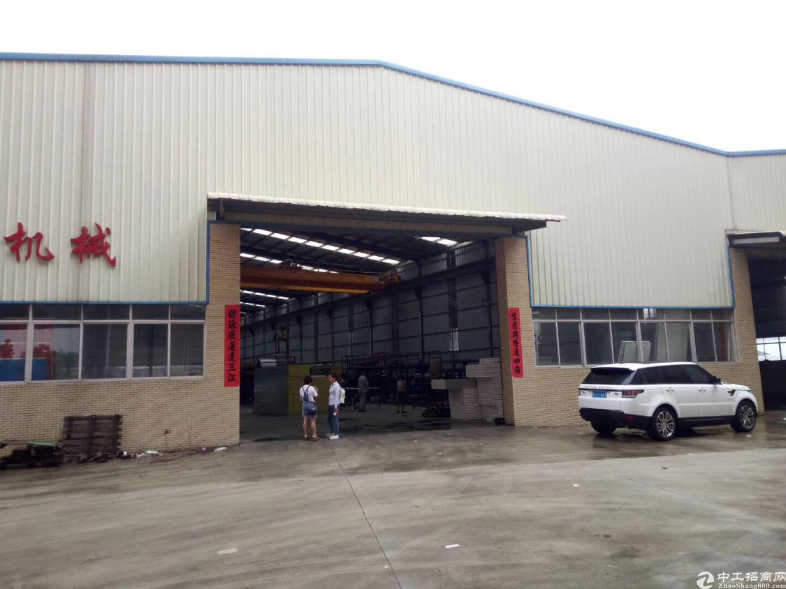 独栋带行吊重工业钢构厂房现已空出