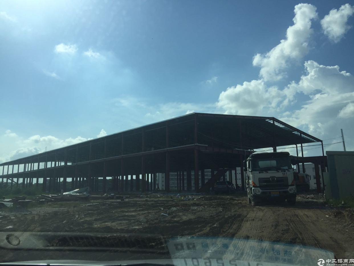 全新在建砖墙钢构独院厂房13500平米出租