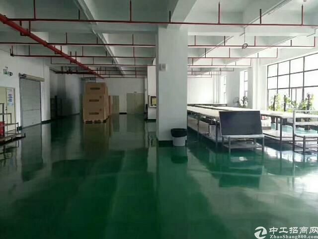 松岗罗田工业区二楼1500平方精装修厂房招租
