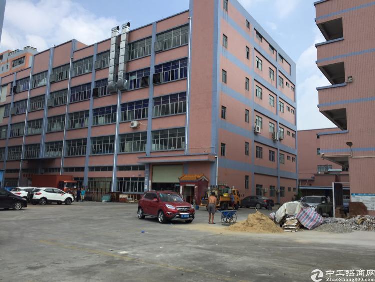 可分租 公明东长路边上独栋标准厂房1-5层单层面积2830