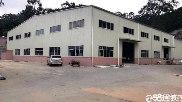 横沥镇 村委书记800㎡独栋钢构厂房 滴水8米带牛角