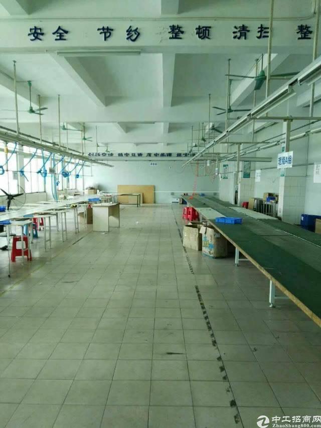 莞樟路高速出口旁新出实业客分租1050平,精装修设备免费使用