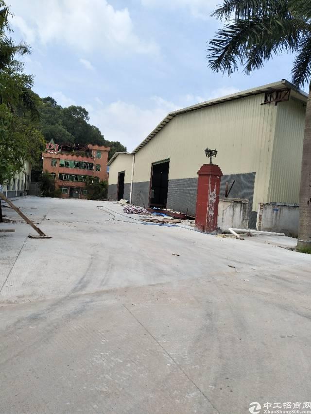 虎门北栅无公摊原房东钢构厂房出租面积5000平米,有办公配套
