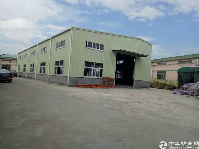 樟木头镇全新单一层钢构厂房滴水7米高,面积850平,电按需