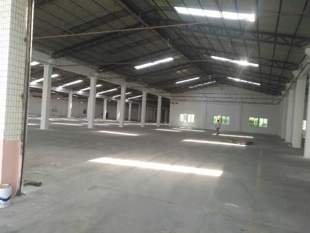 高埗新出单一层钢构厂房8000平滴水8米,带卸货平台