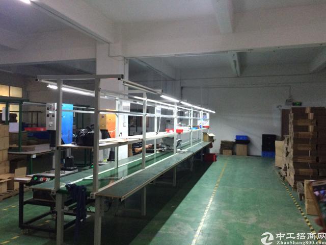 公明红星村靠石岩楼上带办公室装修700平方厂房出租
