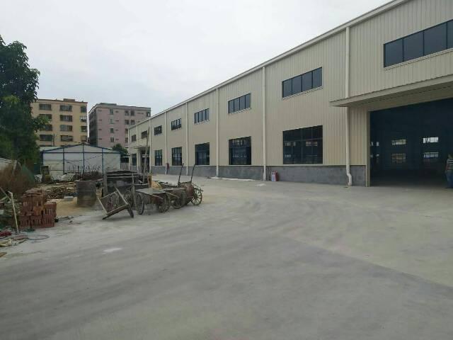 高埗镇独门独院现成单一层钢构厂房出租