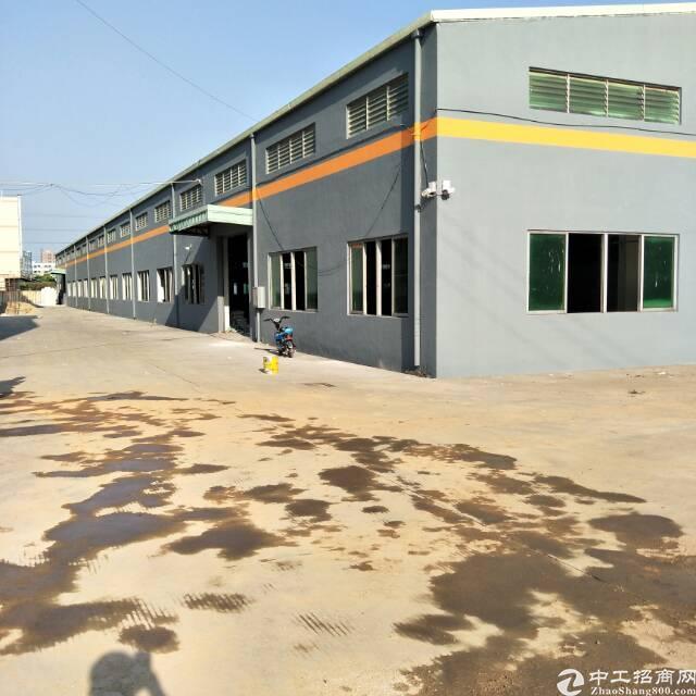 企石全新钢构独院厂房5300平方,高度8米空地2000平方!