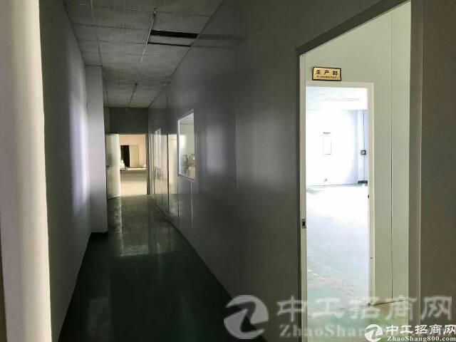 松岗中学附近新出楼上带装修1800㎡厂房招租-图3
