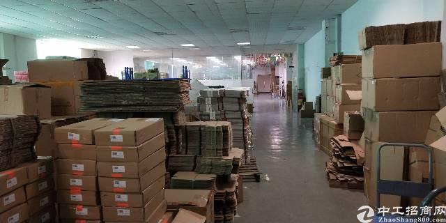 松岗东方大道边新出楼上带办公室装修厂房转租-图3