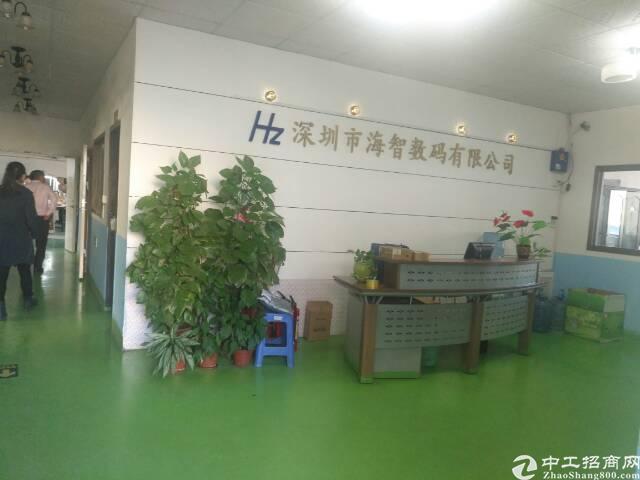 福永宝安大道边18元900平米带装修厂房无需转让费出租