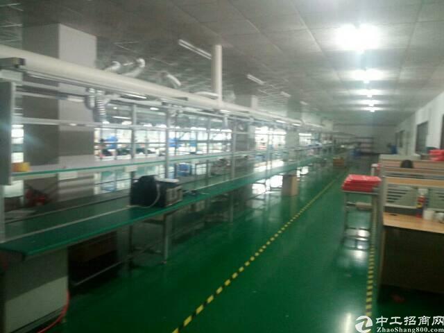 新出二楼豪华装修厂房1500平方 大前台 办公室 车间精装修