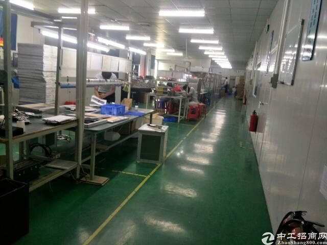 福永塘尾楼上700平米厂房招租带装修