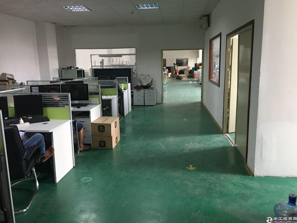 公明楼上全新带精装修办公室,小面积厂房650平