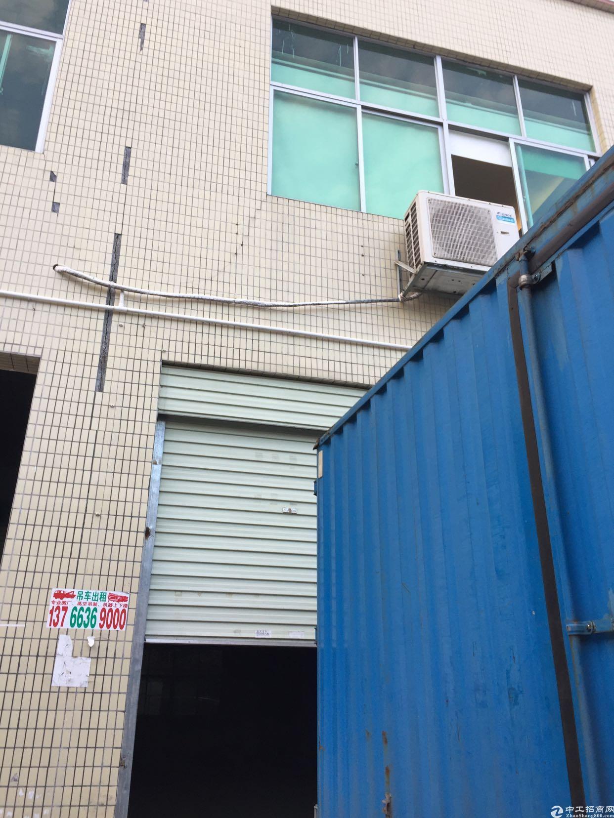 横岗四联大型工业区1楼带装修厂房200平方米出租