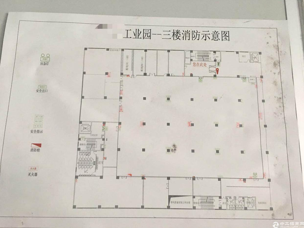 光明新区南光高速出口处有三楼5000平米无尘车间红本电子厂房