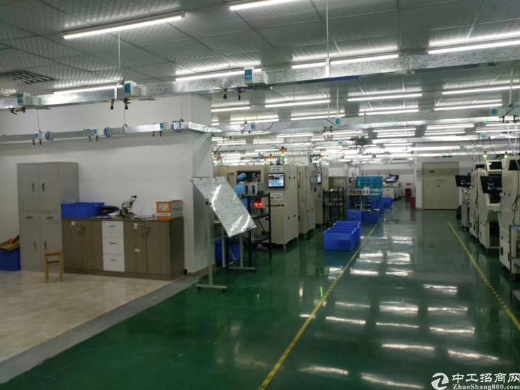 福永镇怀德翠岗工业区楼上1680平方带精装修厂房招租