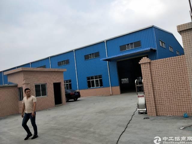 企石镇独门独院单一层滴水8米钢构厂房出租