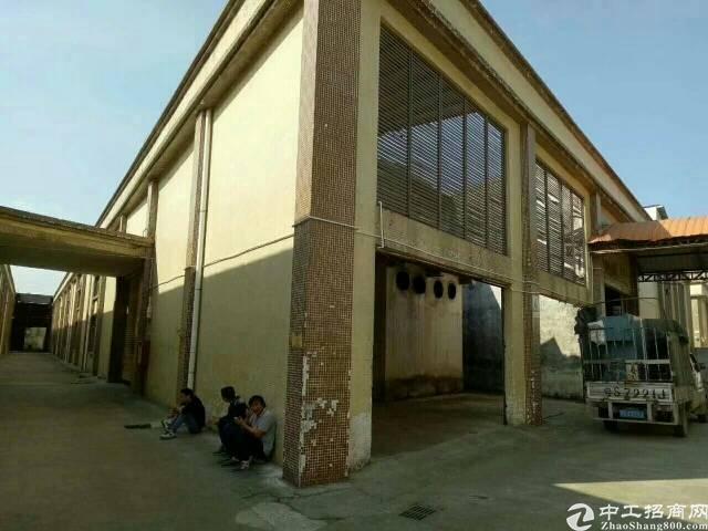 黄江镇靠深圳精品厂房,重工业单一层厂房招租