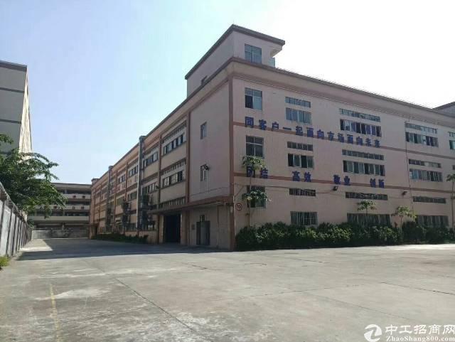 大岭山镇新出标准独院厂房1-3层15000平方有红本低价出租