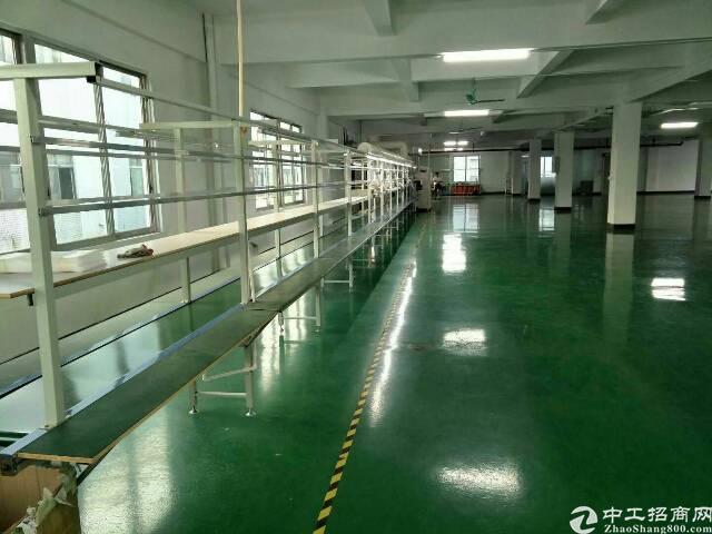 寮步电梯厂房二楼整层1450平米带装修出租