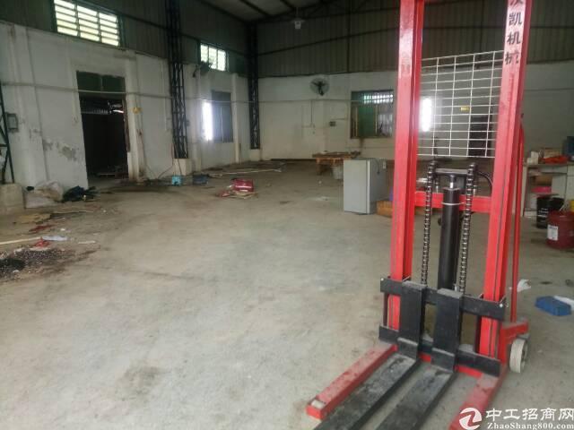 黄江镇靠深圳公明新出单一层钢构厂房!!
