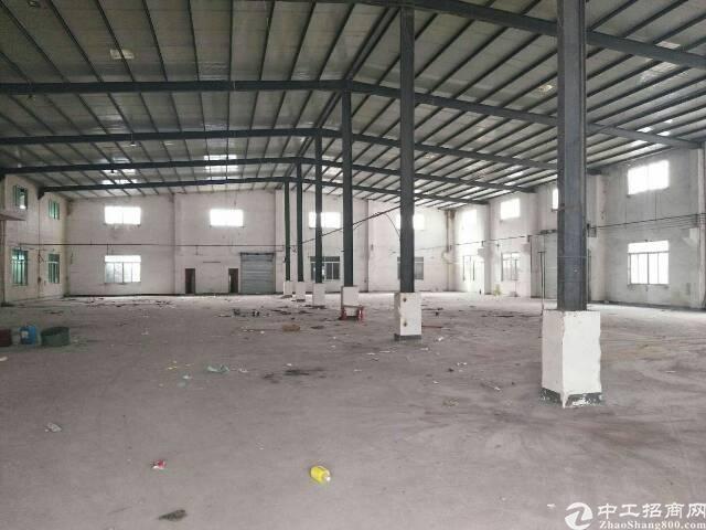 沙田镇环保城原房东钢构厂房出租。