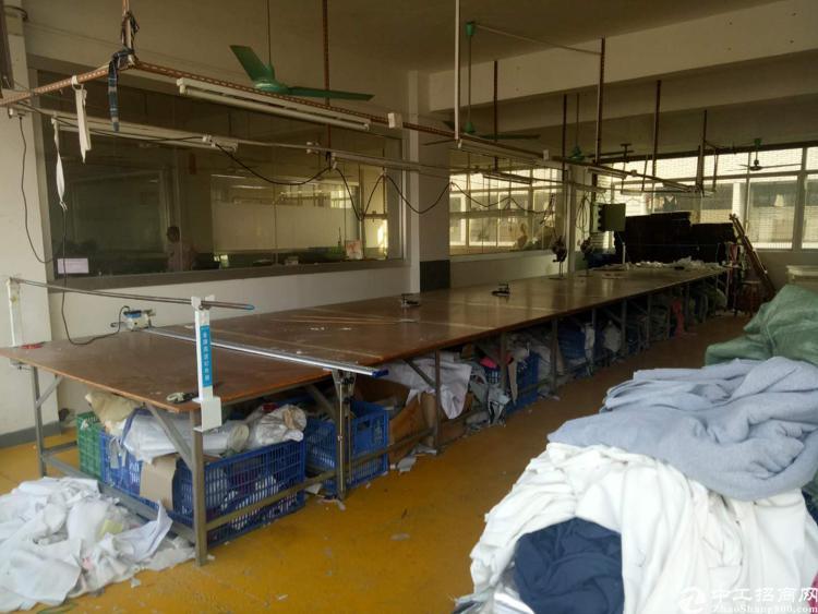 虎门龙眼工业园区内厂房转让、现成装修和制衣线路、水电齐全