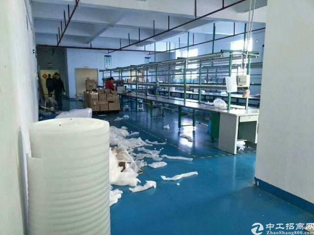 平湖富民熙景城附近楼上760平方带装修厂房出租