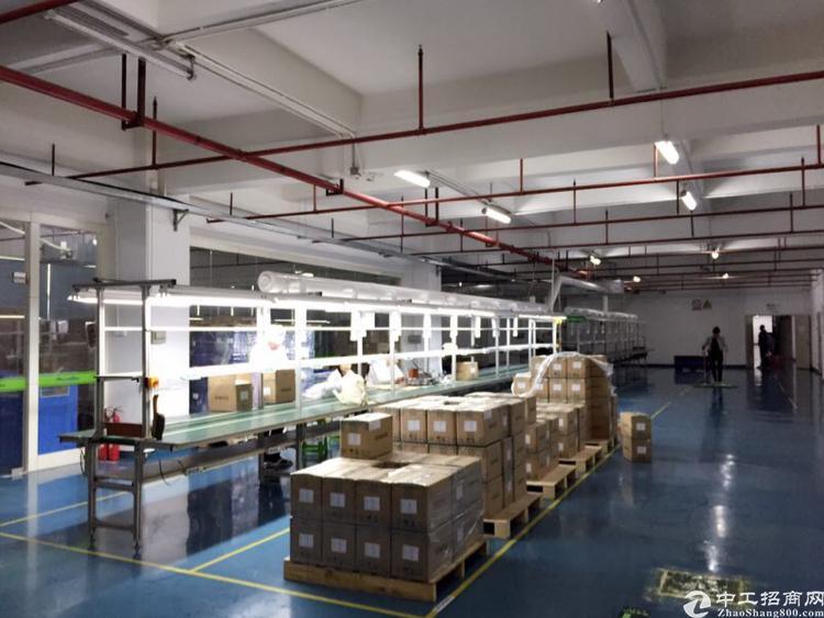 石岩新出产业园区楼上3115平米带装修厂房,含税