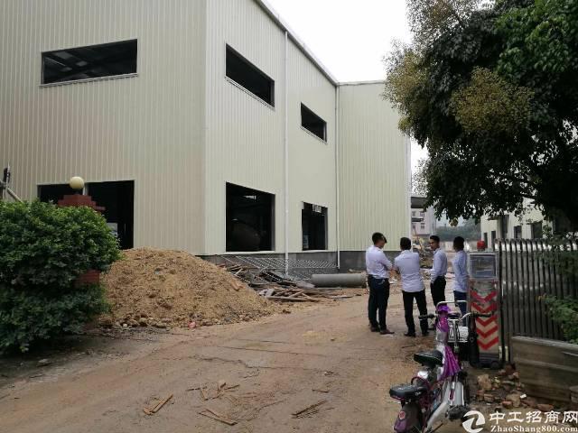 大岭山新建单一层铁皮厂房