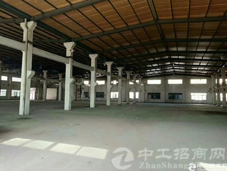 松岗高速出口独门独院滴水8米钢结构厂房4900平米招租