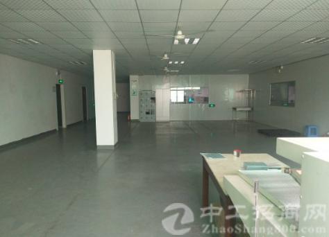 沙井西环电子城附近新出楼上1600平带装修厂房出租