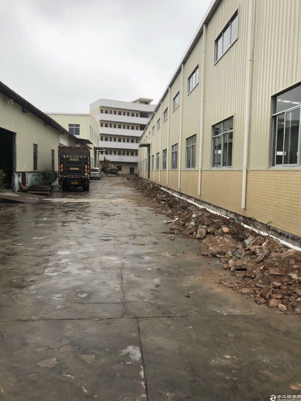 东莞市新出独院单一层厂房出租