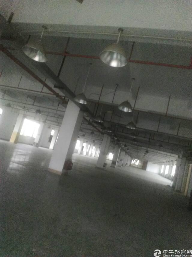 虎门大宁村标准二楼厂房出租面积3620平租9元电315kva