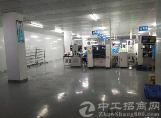 沙井东环路黄埔新出楼上1500平带装修厂房出租