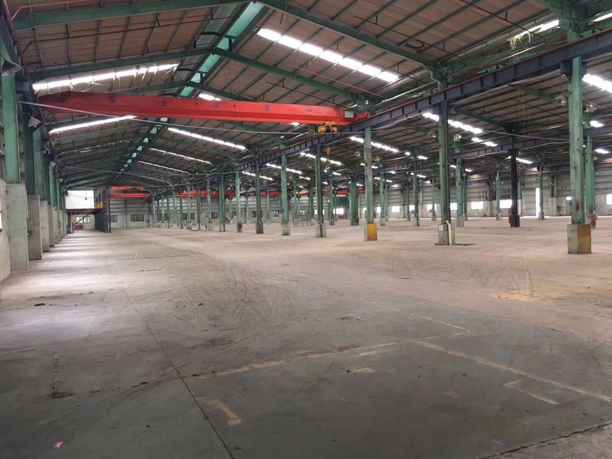 原房东厂房直租无公摊、钢构滴水8米高、有现成行车3吨
