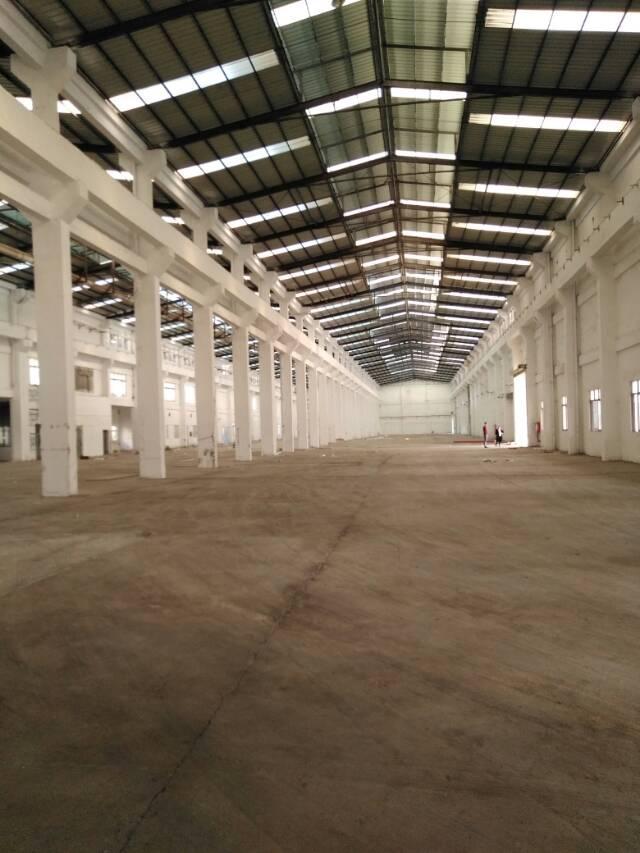 东莞周边新空出独院单一层重工业滴水10米高8000㎡厂房招租