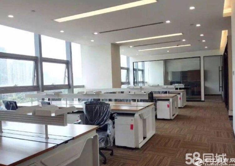 宝安黄金地段精装修写字楼158平方米低价出租